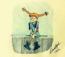 Pippi- the most remarkable girl by Donnietu