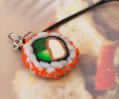 Sushi Cellphone Charm by DeliciousTrickery