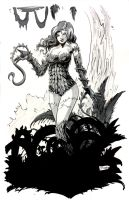 HeroesCon Sketch: Poison Ivy by Shono