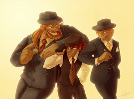 Brothers Tease Gangster Style by GreenOverGreen