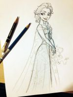 Elsa from FROZEN by tombancroft