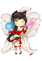 Chibi Ahri the Nine-Tailed Fox by Happy2Live