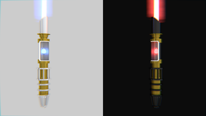Lightsabers Light and Dark by SeGentlyBrokenMan