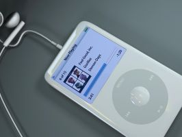 white iPod video by gajdoslevente