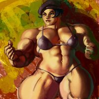 October Muscle Painting by Jebriodo