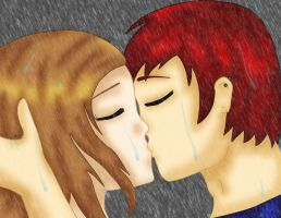 A Kiss in the Rain by AJBurnsArt