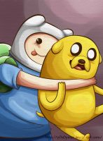 Finn y Jake by M-ar