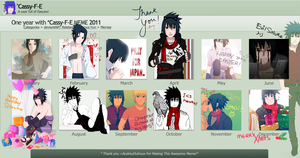 A year full of Sasuke fanart by Cassy-F-E