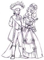 Louis XVI and Marie Antoinette by wondyland