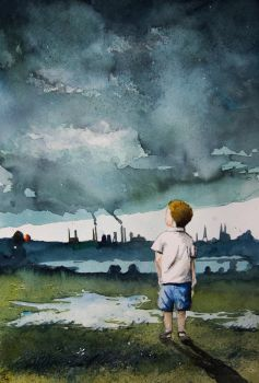 A kid and the storm by sanderus