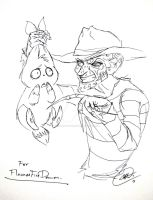 REQUEST: Flames and Freddy by DemonCartoonist