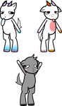 5 point goat adopts by cutenessawsomness