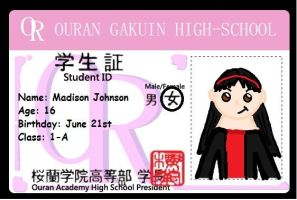 Madison Ouran ID card by purplekatz93