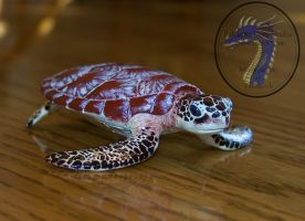 Sea turtle sculpture commission by SculptedCreations