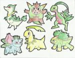 Grass Starters Second Evolution by jed251