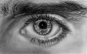 Jared Letos' eye by DarkSnowflake