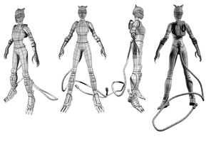 Catwoman_injustice_wireframe by MyrvanaMiseria