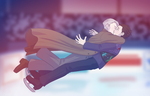 Kiss Kiss Fall on Ice by MyaTheSquishyOctopus