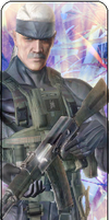 Solid Snake Old From Metal Gear 4 by LiquidS0