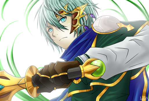 Brave Frontier: Dion by azuila