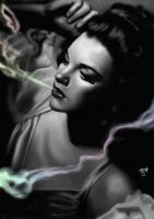 Judy Garland - Good Times by eHillustrations