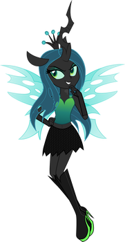 Queen Chrysalis Equestria Girl Style by TheShadowStone