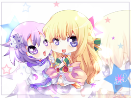 Nep-Nep and Vert-San by MayomiCCz