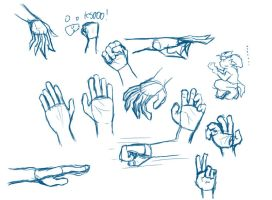 Hand studies by zonck
