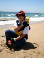 Ash and Pikachu by moonymonster
