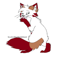 Line art red did by Marlakyokitty