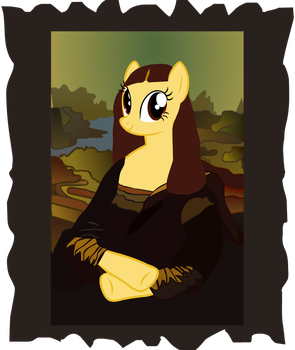 Mona Lisa as a Pony by YoshiGreenwater