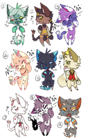 [30 POINTS] Kitty Adoptables [CLOSED] by starrolladopts