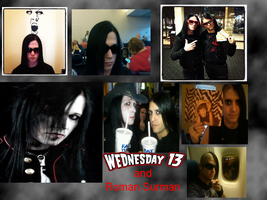 Wednesday 13 and Roman Surman Wallpaper :D by VegetaNiko