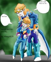 Stoica and his son Sly holding by mangafa20