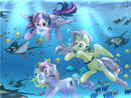 Friendship is Wild: Underwater Paradise by Art-forArts-Sake