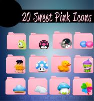 20 Sweet Pink Icons by MeluuEditions