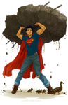 T-shirt Superman by ZombieDaisuke