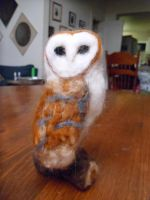 Needle Felted Barn Owl by Jodee