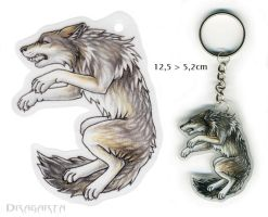 Wolf keychain by Dragarta