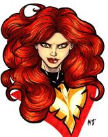 Dark Phoenix bust by CrimsonArtz