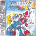 Megaman X4 custom PS1 cover by ToxicThunder