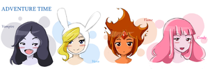Adventure Time Ladies by Queen-Of-Cute