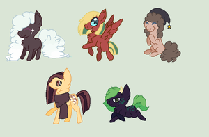 Hoof-drawn adoptables by REDandYELLOWZ