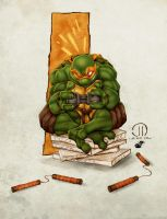 TMNT Mikey - Colors by StacyRaven