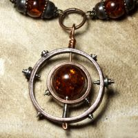 Steampunk Necklace Relic by CatherinetteRings