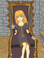 Melissa on the throne by Masanohashi