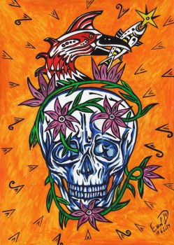 Blooming skull by retransmission