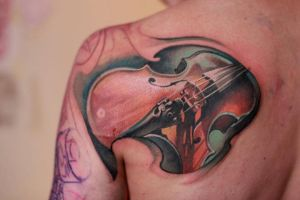 Violin tattoo by nailone