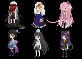 TTA Selfy Adoptables set 5 by Kissyfaceadopts