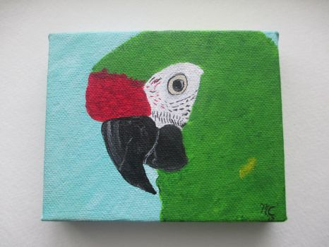 Military Macaw Painting by MadalynC
